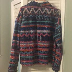 Chico's Denim Quilt Jacket